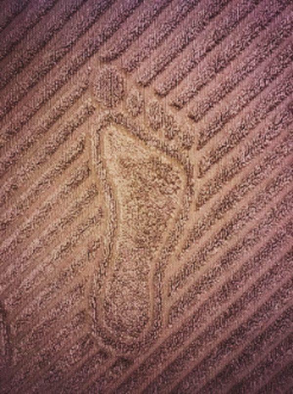 Полотенце для ног коричневое