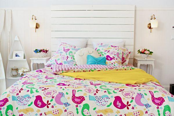 яркое постельное белье из фланели