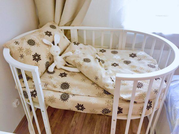 фланелевое белье в детскую кроватку