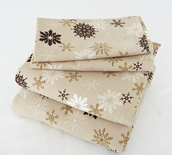 Постельное белье со снежинками