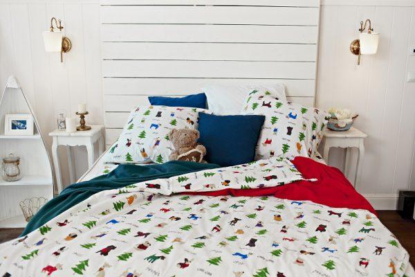 комплект постельного белья с собачками