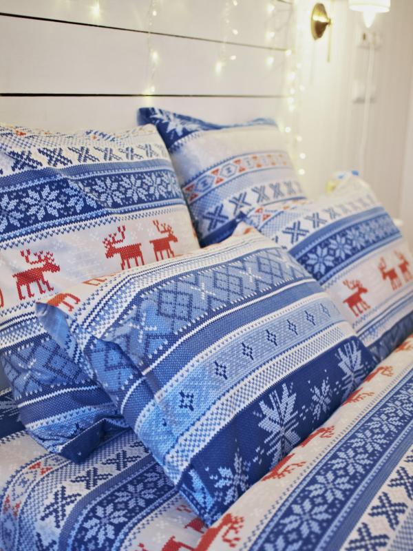 Фланелевое постельное белье семейное